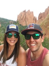 Mrs. Butler and her husband in Colorado